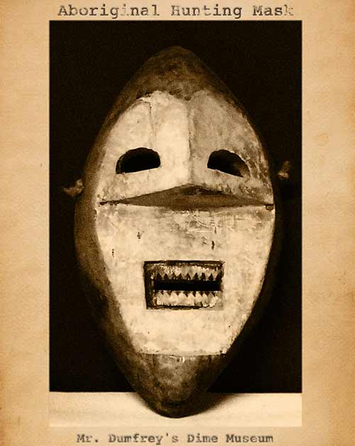 Curiosity House: Aboriginal Hunting Mask